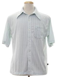 1970's Mens Print Sport Shirt