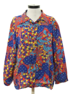 1970's Womens Print Hippie Shirt