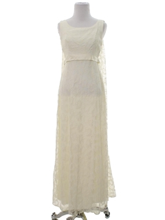 1960's Womens Wedding, Prom Or Cocktail Maxi Dress