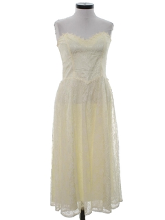 1980's Womens Gunne Sax Prom, Cocktail, or Wedding Dress