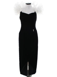 1980's Womens Totally 80s Asymmetrical Prom Or Cocktail Maxi Dress