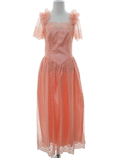 1980's Womens Prom Or Cocktail Dress