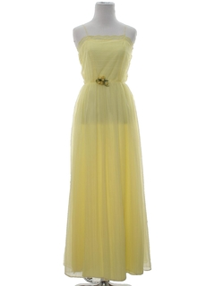 1970's Womens or Girls Prom Or Cocktail Maxi Dress