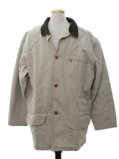 1990's Mens Barn Style Car Coat Jacket
