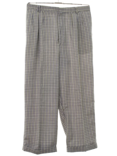 1980's Mens Totally 80s Pleated Baggy Slacks Pants