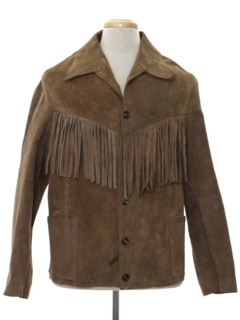 1970's Mens Hippie Fringed Suede Leather Jacket