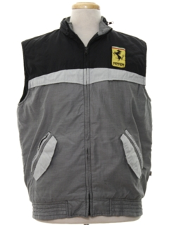 1980's Mens Totally 80s Ferrari Racing Ski Style Vest Jacket