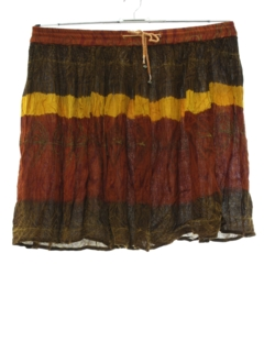 1990's Womens Mini Hippie Broomstick Skirt