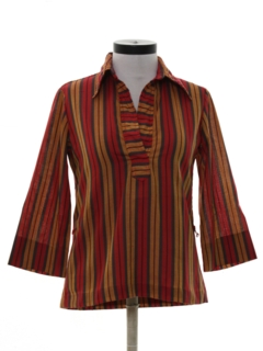 1970's Womens Hippie Style Shirt