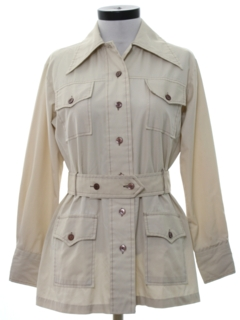 1970's Womens Safari Leisure Style Shirt Jacket