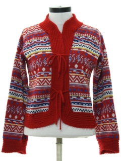 1980's Womens Totally 80s Hippie Sweater