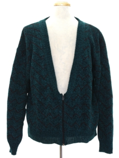 1980's Mens Totally 80s Cardigan Sweater