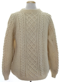 1970's Mens Cable Knit Wool Sweater