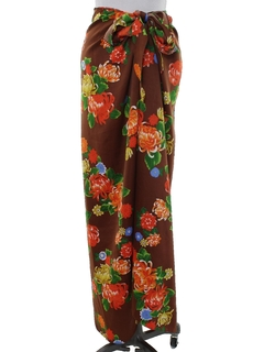 1980's Womens Hawaiian Wrap Maxi Skirt