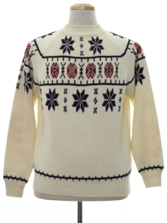 1960's Mens Snowflake Ski Sweater