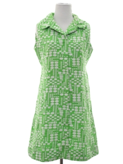 1960's Womens Mod Print Dress