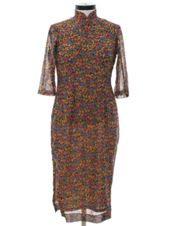 1980's Womens Cheongsam Dress
