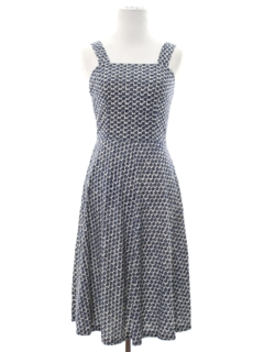 1960's Womens/Girls Print Dress