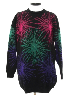 1980's Womens Totally 80s Abstract Sweater
