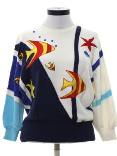 1980's Womens Totally 80s Style Sweater