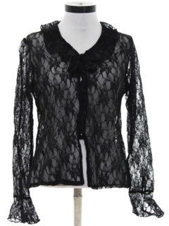1980's Womens Lace Shirt