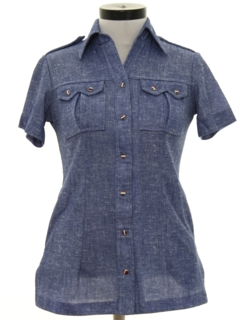 1970's Womens Mod Western Shirt