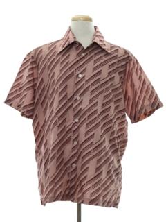 1970's Mens Print Disco Shirt