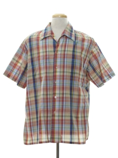 1960's Mens Plaid Sport Shirt
