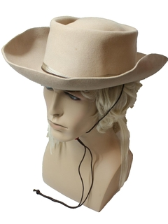 1960's Mens Accessories - Western Cowboy Style Hat