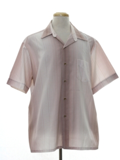 1980's Mens Mod Sport Shirt