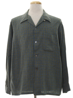 1960's Mens Mod Flannel Sport Shirt