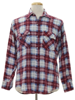 1980's Mens Flannel Western Style Shirt