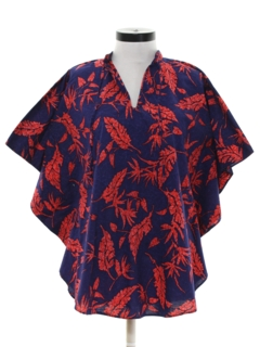 1980's Womens Hawaiian Hippie Style Butterfly Shirt