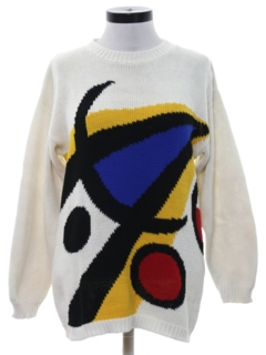 1980's Womens Totally 80s Picasso Inspired Sweater