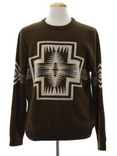 1990's Mens Southwestern Native American Style Sweater