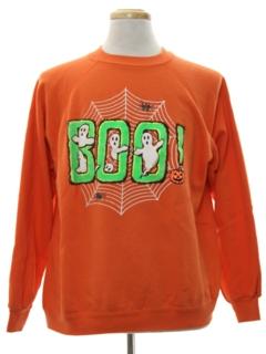 1980's Unisex Cheesy Halloween Sweatshirt
