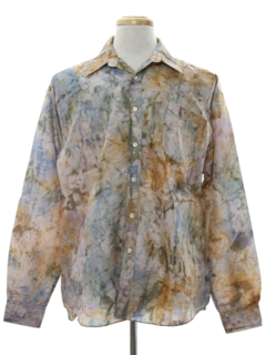 1970's Mens Print Disco Hippie Style Shirt