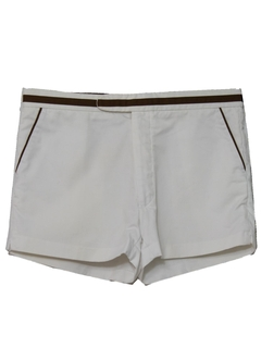 1970's Mens Mod Tennis Sport Shorts