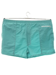 1980's Mens Totally 80s Designer Swim Short Shorts