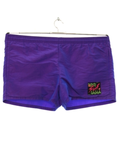 1980's Mens Totally 80s Swim Short Shorts
