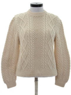 1970's Womens Cable Knit Ski Sweater