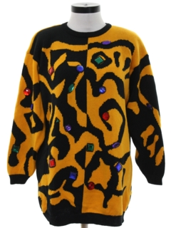 1990's Womens Totally 80s Sweater