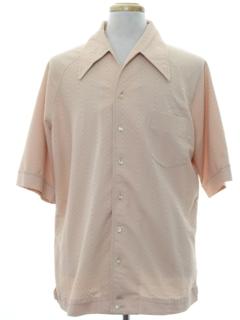 1970's Mens Mod Shirt-Jac Style Sport Shirt