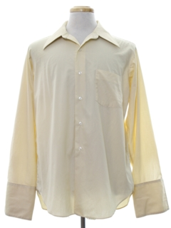 1970's Mens Mod French Cuffs Shirt
