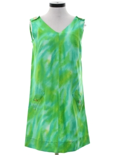1970's Womens A-Line Mod Sun Dress