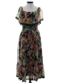 1970's Womens Designer Disco Style Dress