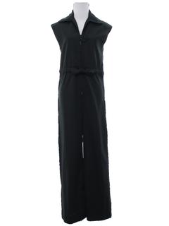 1970's Womens Mod Knit Jumpsuit