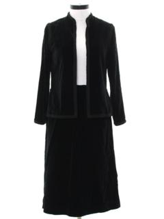1970's Womens Designer Velvet Suit