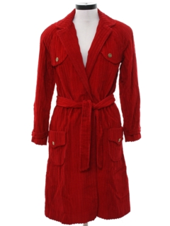 1960's Womens Corduroy Robe Style Jacket
