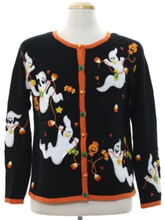 1980's Womens Cheesy Ugly Halloween Sweater